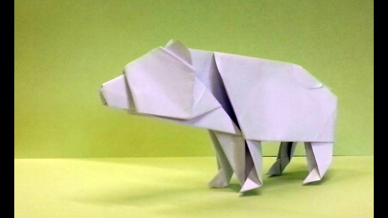 How To Make An Origami Bear Origami Bear Diagram on