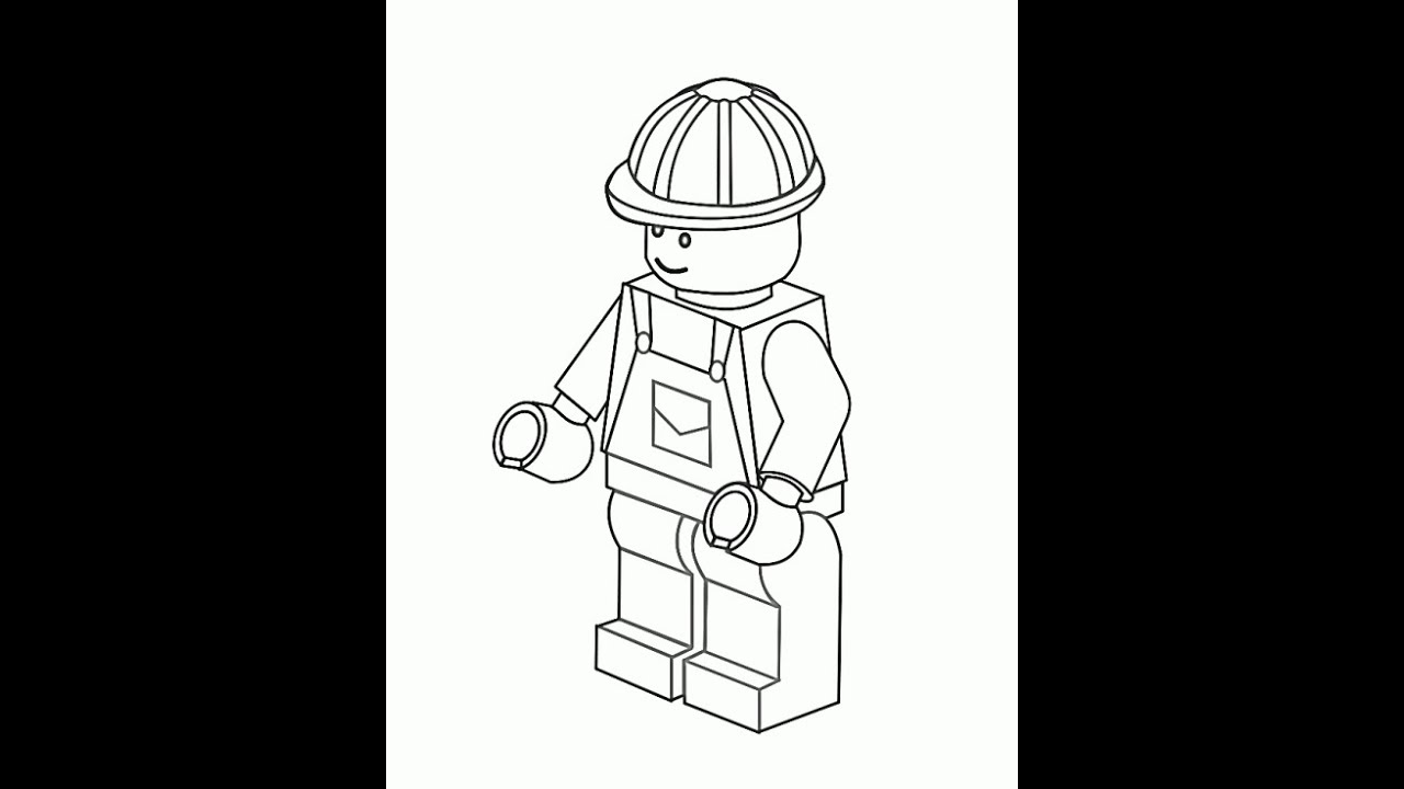 lego coloring pages for kids youtube