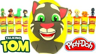 Huevo Sorpresa Gigante de Talking Tom en Español de Plastilina Play Doh