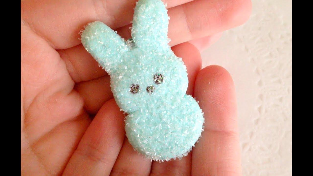 Marshmallow Bunny Peep Diy: Polymer Clay