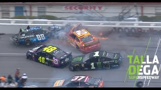 Bowman's block causes the 'Big One' at Talladega | NASCAR at Talladega