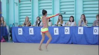 Выступление по художественной гимнастике