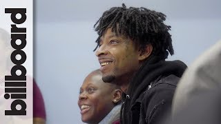 21 Savage Stops By Atlanta School to Teach Students About Financial Literacy  Billboard