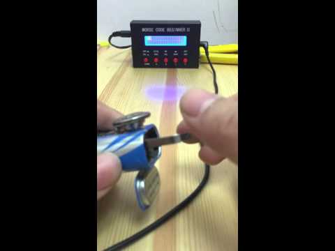 DIY pocket morse code key