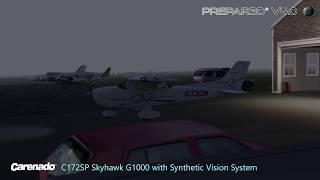 Prepar3D V4 - More Carenado C172SP with SVS and very low visibility out of KBID (4K0