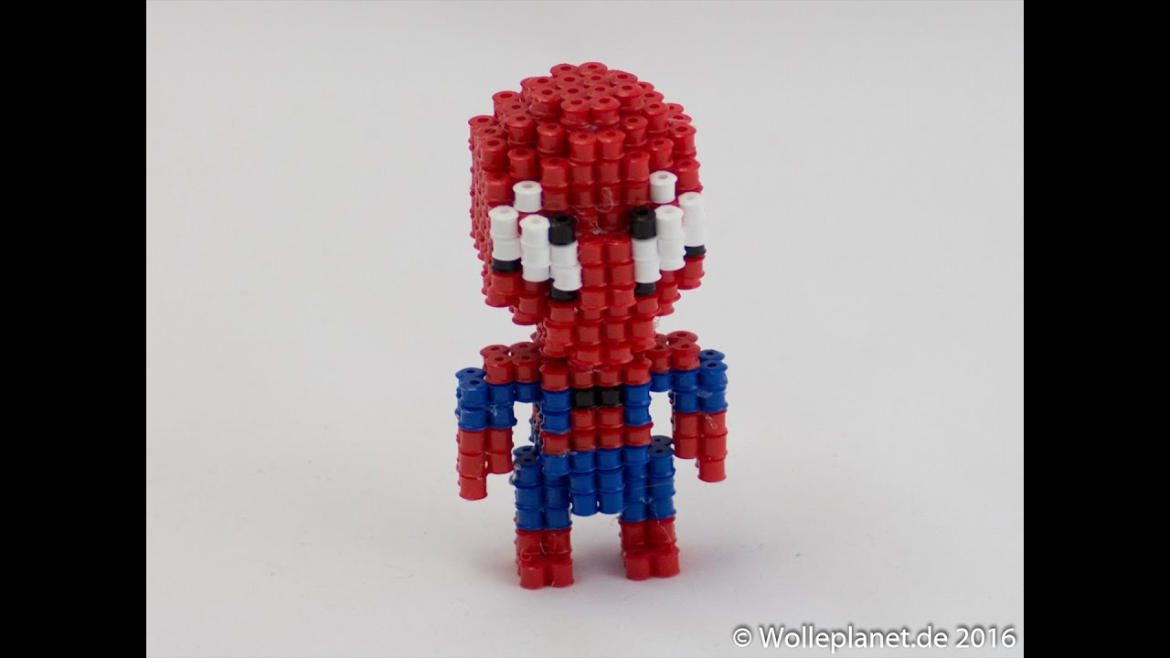 Hama Beads Spiderman: Perler Bead 3D Spiderman