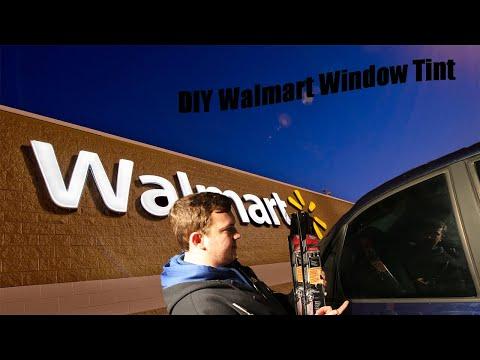 DIY Walmart window tint