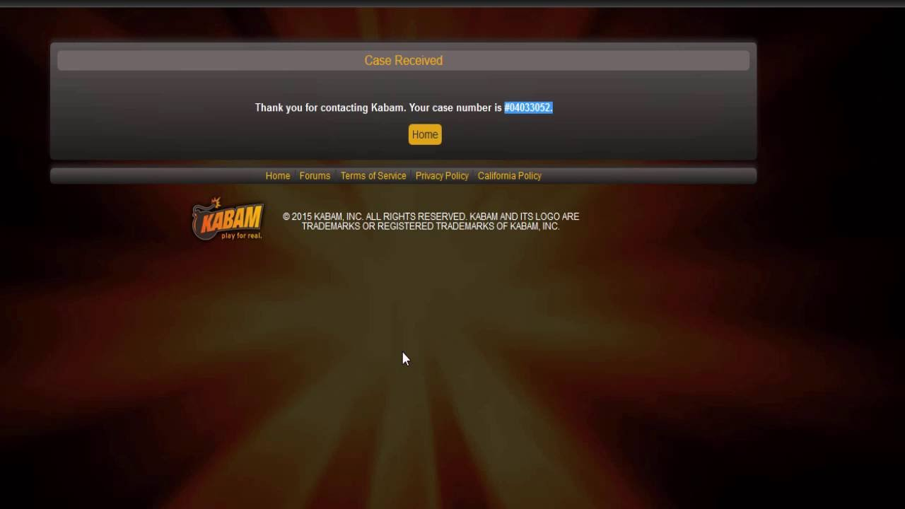 how to delete a kabam account