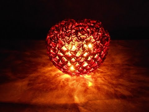 First Time Ever! Quilling Heart Lamp - DIY Making Tutorial   SUPER QUILLING