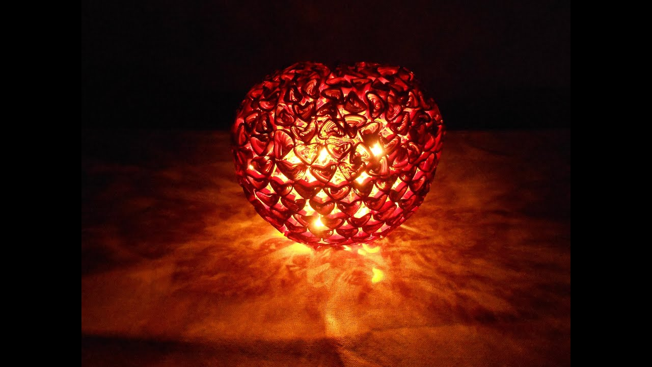 Quilling Heart Lamp   Making Tutorial   YouTube