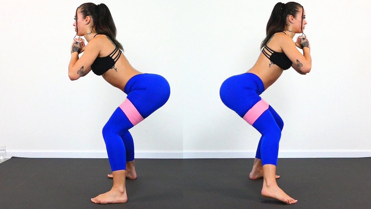 BIGGER BUTT Booty Band Workout For Glutes!