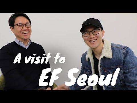"""A visit to EF Seoul"" – with Chris a.k.a. CoreanoVlogs"