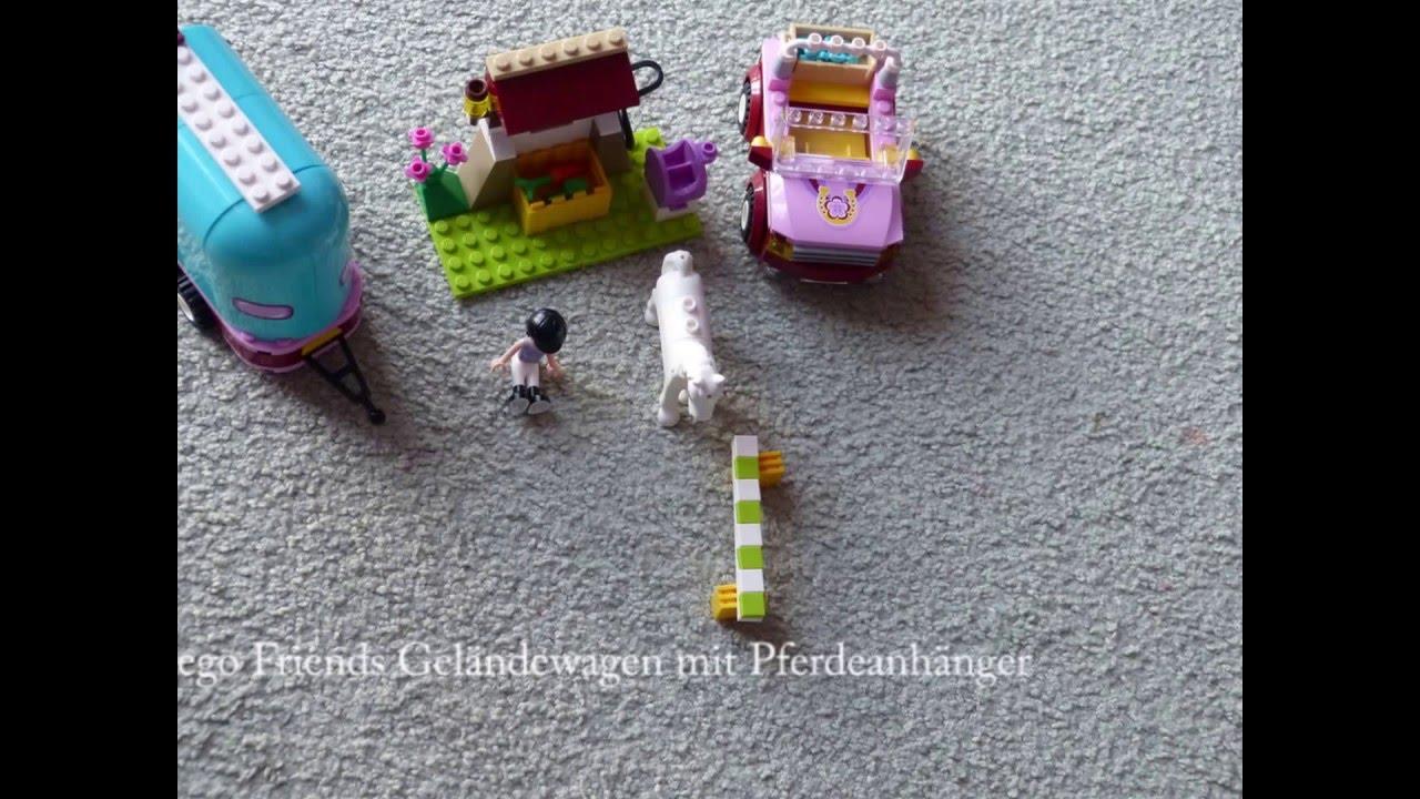 Lego Friends Pferdeanhänger Mit Geländewagen Als Stop Motion Youtube