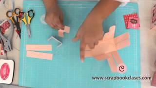 Canasta paper craft San Valentín