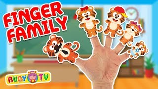 #fingerfamilysong Tigers finger family song 🖐🎵 Songs for babies, Party music for kids, Tiger song