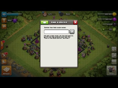 Clash of Clans How to link village to any Device!! (Including Bluestacks!)
