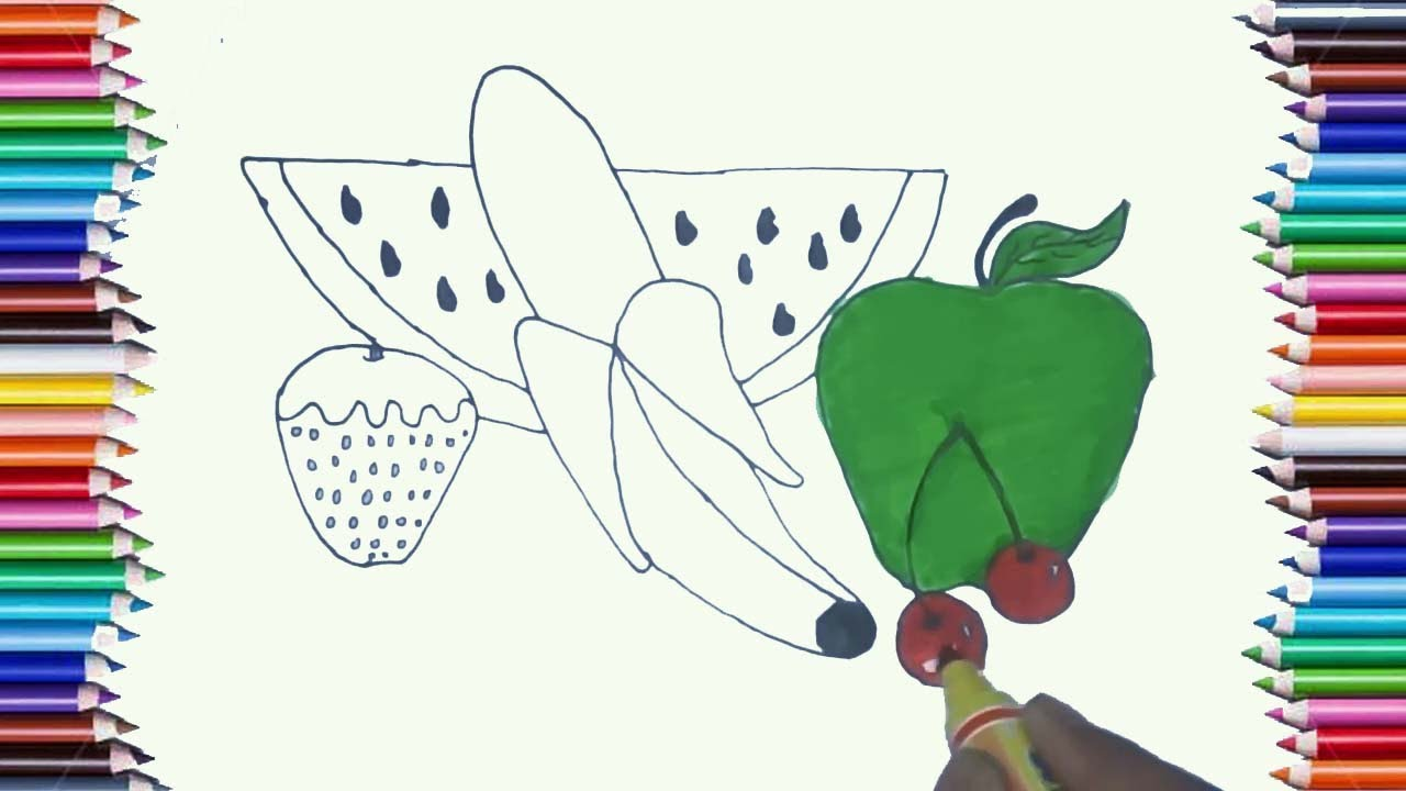 100+ [ Green Apple Coloring Page ]   Articles With Preschool ...