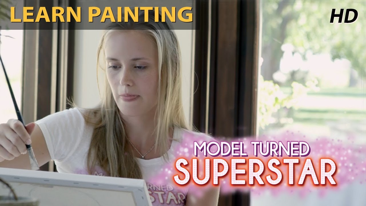 Model Turned Superstar - Models Learn Painting   Reality Show with 100 Models