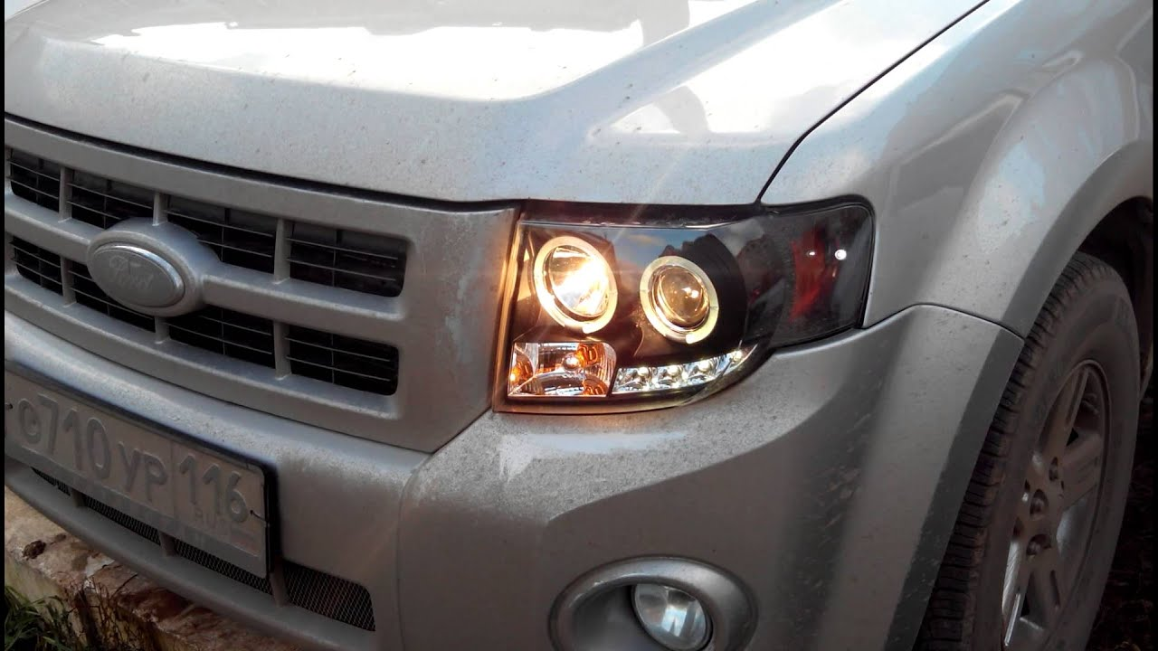 Ford Escape Projector Headlight Drl Led Youtube