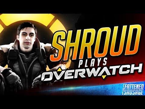 """CSGO God """"Shroud"""" Plays Overwatch! Is He Good?"""
