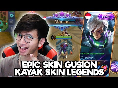 NEW SKIN EPIC GUSION MACAM SKIN LEGENDS ! [GIVEAWAY] - MOBILE LEGENDS INDONESIA