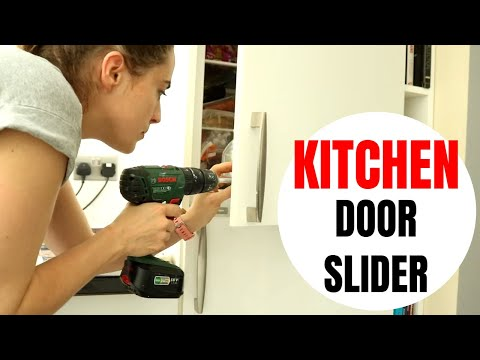Integrated Fridge Freezer Door Slider Installation | The Carpenter's Daughter