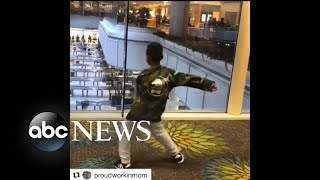 Video captures boy doing Flossing dance with TSA agent
