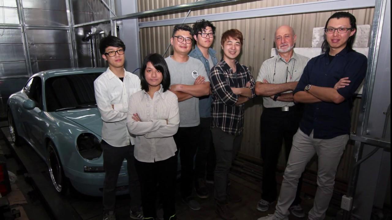 產學合作開發保時捷復古套件 大葉大學工設系德國籍教授約翰蓋格團隊獨占鰲頭