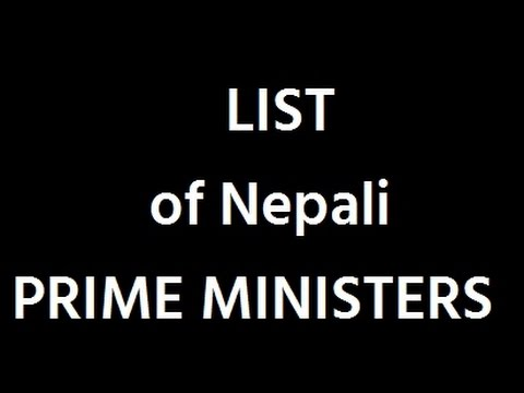 List of Nepali Prime Ministers
