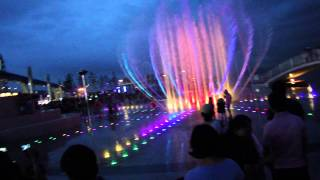 Танцующий фонтан.Инчхон,Корея.