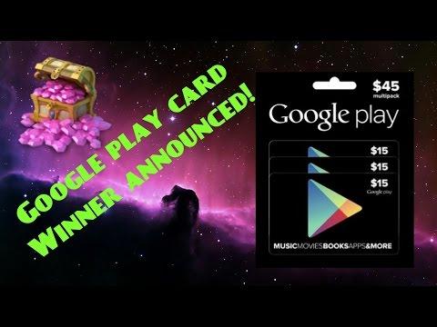 Castle Clash; GOOGLE PLAY CARD WINNER ANNOUNCED!