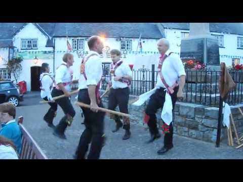 Cardiff Morris dance Upton Stick in Llantwit Major. 20th August, 2013.