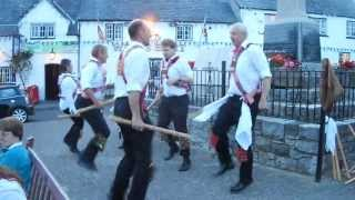 Cardiff Morris dance Upton Stick in Llantwit Major. 20th August, 2013.