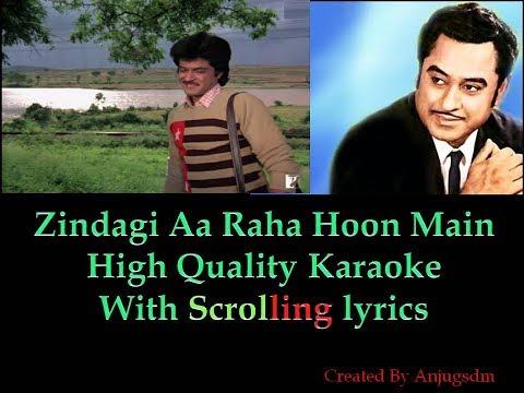 Zindagi Aa Raha Hoon Main || Mashaal 1984|| Karaoke with scrolling lyrics (High Qaulity)