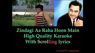 Zindagi Aa Raha Hoon Main || Mashaal 1984|| Karaoke with scrolling lyrics (High Qaulity)