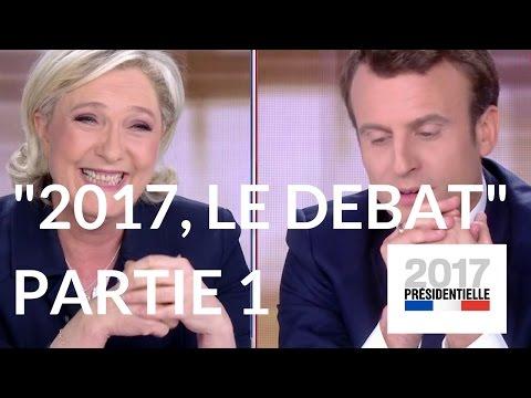 """""""2017, le débat"""" : Marine Le Pen - Emmanuel Macron (France 2) – Première partie."""