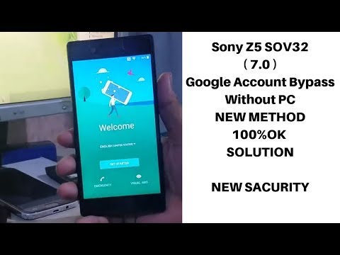 Sony Z5 Sov32 ( 7.0 )google Account Bypass Without PC   | Mobile Cell Phone Solution |