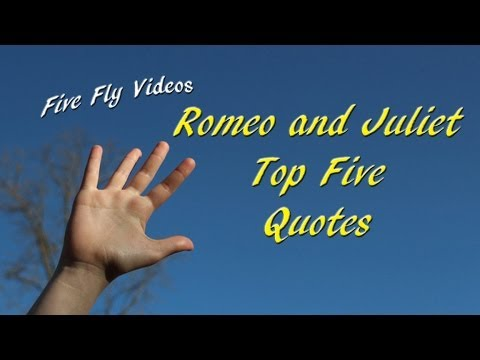 Romeo and Juliet Quotes - Top Five Quotations! ⭐ - YouTube