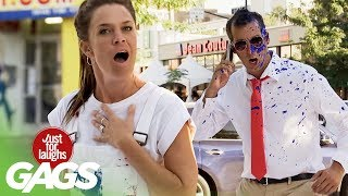 Throwing PAINT to the FACE Prank