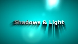 Sony Vegas pro 12/13 | Dynamic Or Moving Shadows and Light | 3D Text Look