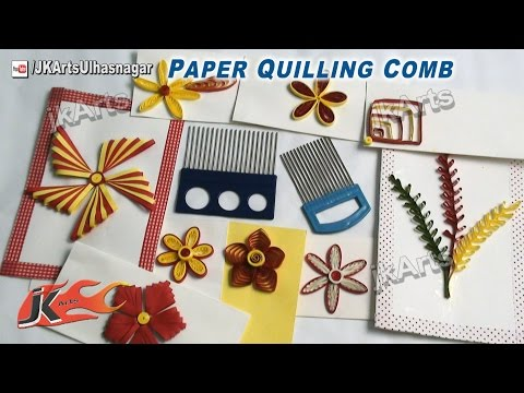 Paper Quilling  Comb Tool | How to use Quilling Tools | JK Arts 468