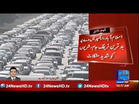 Massive traffic jam on Expressway, Islamabad