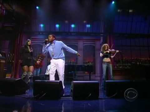 Kanye West ft Syleena Johnson & Miri Ben Ari  All Falls Down  @ Letterman