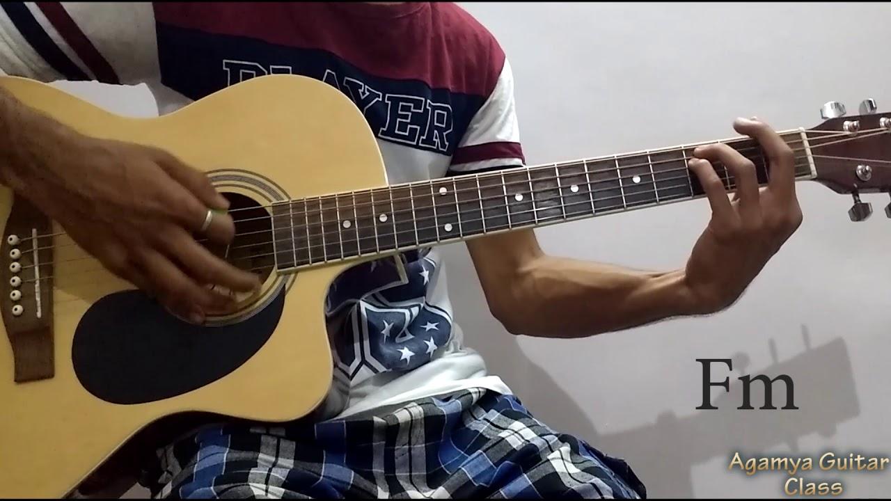 O Saathi Baaghi 2 Guitar Chords Lesson Strumming Pattern Running