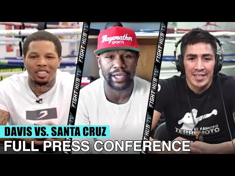 GERVONTA DAVIS VS LEO SANTA CRUZ - FULL PRESS CONFERENCE VIDEO WITH FLOYD  MAYWEATHER JR - YouTube