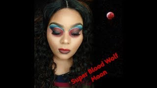 Super Blood Wolf Moon Inspired Makeup Look