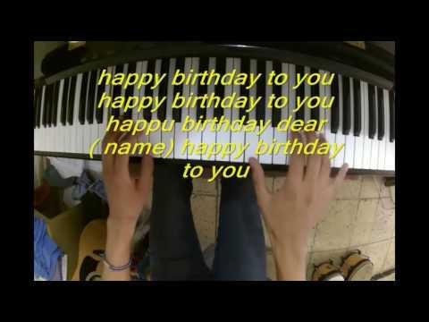 Happy Birthday Feliz Cumple Años Canción En Ingles Pista Con Letra Youtube