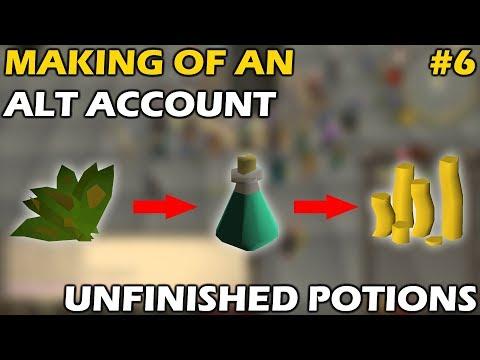 Making An UNFINISHED POTION ALT | 700k+/h | 19 MINUTE PREP TIME