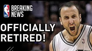 Breaking: Manu Ginobili Has Officially Retired From the NBA at Age 41