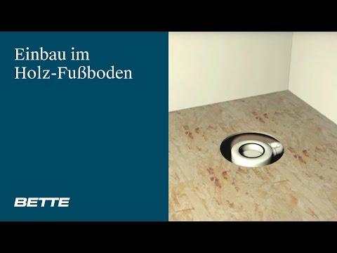 Bodengleiche Dusche Im Holzfußboden   Montagefilm BETTEFLOOR   Most Popular  Videos